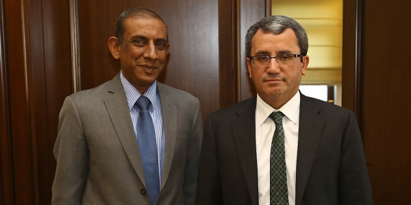 Deputy Foreign Minister Ambassador Yıldız received Ambassador of India