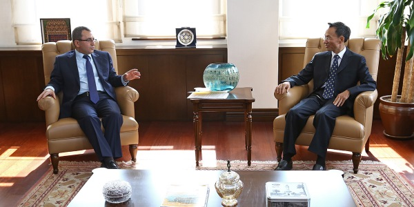 Deputy Foreign Minister Ambassador Ahmet Yıldız received Ambassador of the People's Republic of China