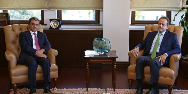 Deputy Foreign Minister Ambassador Yıldız received Ambassador of Greece