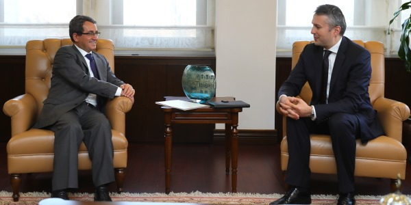 Deputy Foreign Minister Ambassador Yıldız received Ambassador of Romania
