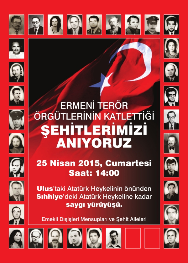 Declaration on the Protest March to be Organized by the Retired Officials of the Foreign Ministry in Ankara on 25 April 2015
